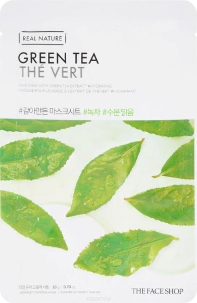 The Face Shop Green Tea Real Nature Mask Mask Sheet
