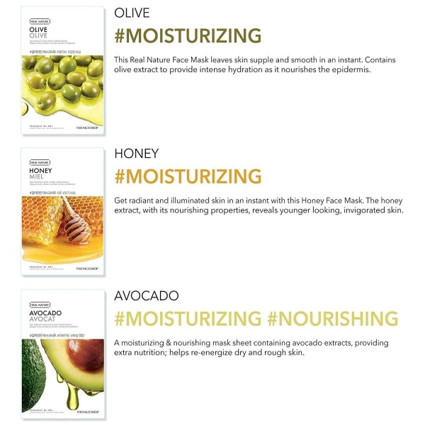 The Face Shop Honey Real Nature Mask Mask Sheet