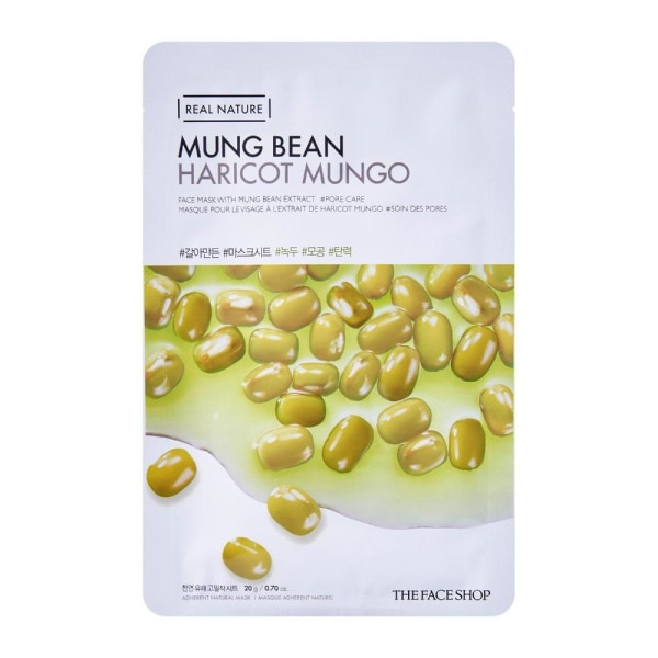 The Face Shop Mung Bean Real Nature Mask Mask Sheet