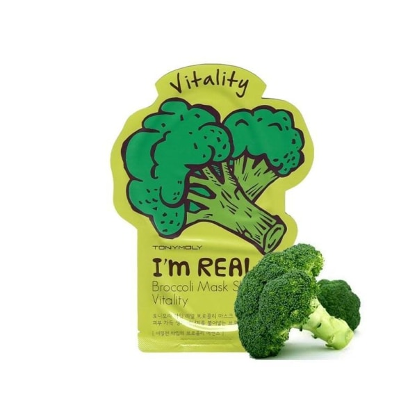 Tonymoly Im Real Broccoli Mask Sheet Vitality Mask Sheet