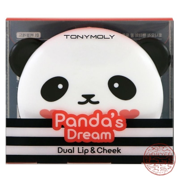 Tonymoly Pandas Dream Dual Lip & Cheek Bubble Red 1.7 G X 2 Lipstick