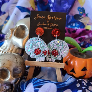 LIMITED EDITION Skulls with Swarovski Crystals  - Smoke and Glitter Design Collaboration