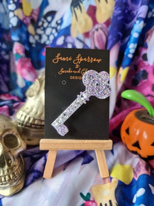 Skeleton Key - Brooch - Smoke and Glitter Design Collaboration
