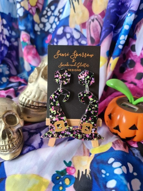 Witches Hat Dangles  - Smoke and Glitter Design Collaboration
