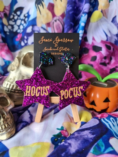 Hocus Pocus Dangles - Pink - Smoke and Glitter Design Collaboration