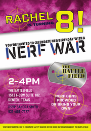 Nerf Invitations for Parties