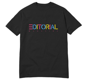 Black Rainbow Editorial Tee