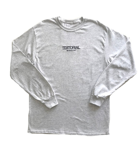 Embroidered Company Longsleeve Ash Grey