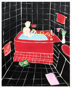 Black Bathroom Charity Drive Print