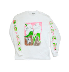 Hand Painted Flower Longsleeve
