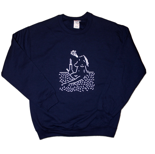 White & Navy Clay Hickson Sweatshirt