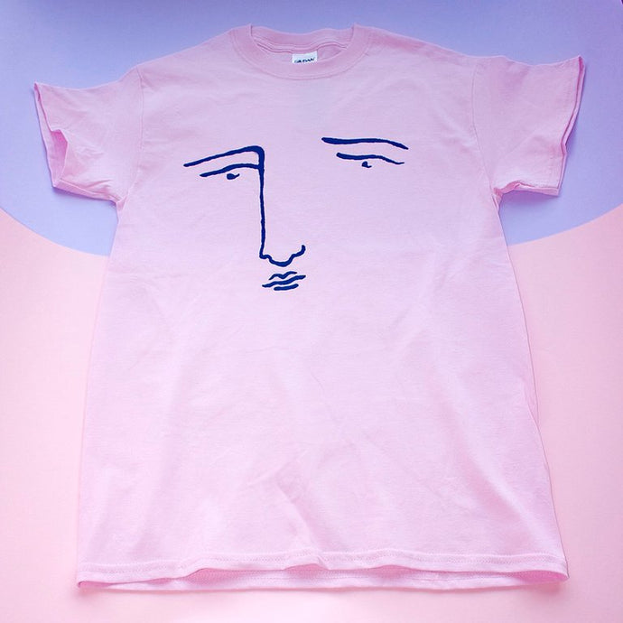 Pink & Navy Poor Gray Tee