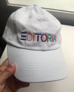 White Editorial Hat