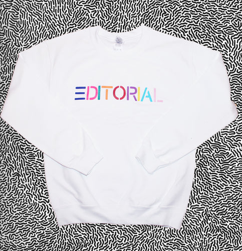 Multi Colour Editorial Crewneck