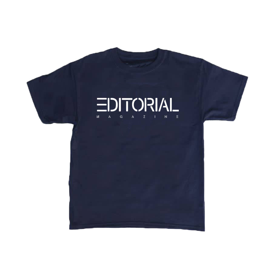 Navy Editorial Baby Tee
