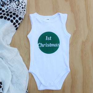 """1st Christmas"" Tank Onesie - Size 000"