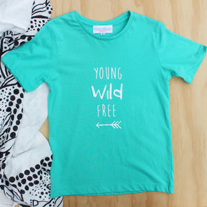 """Young Wild Free"" Boy's Tee - Size 5"