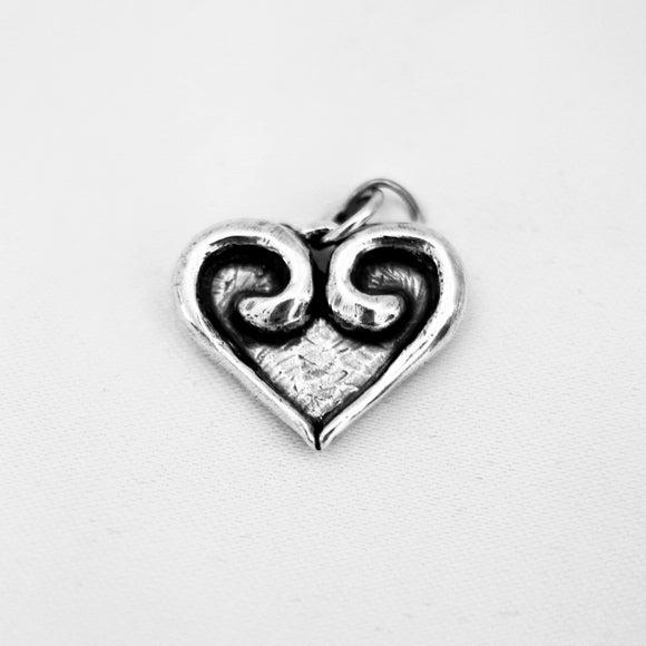 Heart with Swirl 3/4