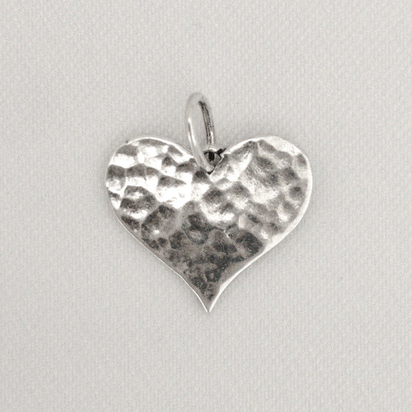 Hammered Flat Heart