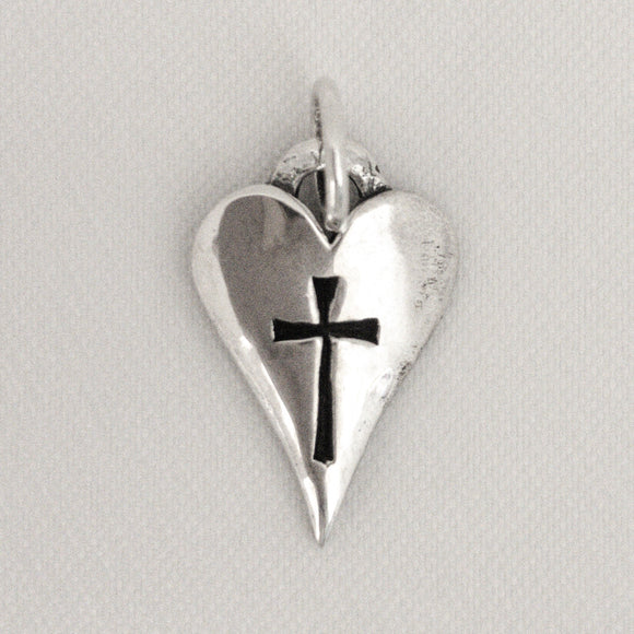 Thin Heart with Cross