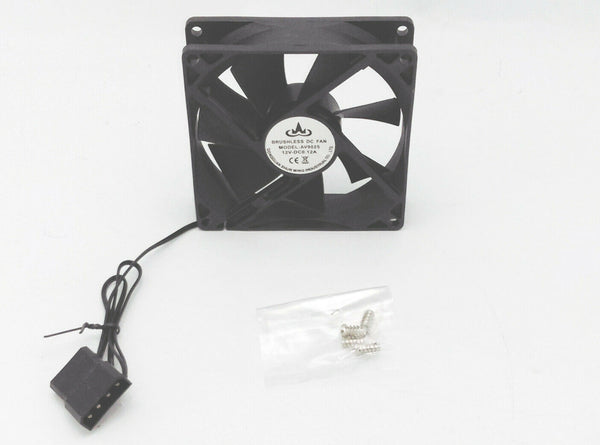 NEW 90mm x 25mm Molex 4-Pin 12V PC Brushless Computer Case Cooling Fan