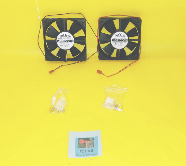 Qty 2: Jamicon 120mm Dual-Ball-Bearing Cooling Fan Kit for Open Air/ PC/ Server Case