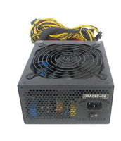 SHARK TECHNOLOGY 1600W 12X PCIe Multi-GPU Gaming / Cryptocurrency Mining Power Supply w/ AC Power Cord