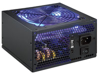 SHARK TECHNOLOGY® ATX-750-LED V2.0 Blue LED Fan PCIe 4-SATA Gaming ATX 12V PC Power Supply