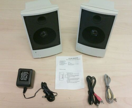 NEW STEREO Amp. Speaker for MP3 Walkman CD Portable DVD Blu-Ray Player LCD TV PC