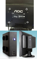 Mini ITX Silent HTPC Fanless DIY Empty Desktop Black PC Case, 2x Front USB 2.0