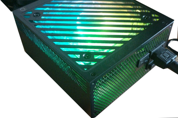 *New* SHARK 1000W Digital RGB LED Fan Dual PCIe Gaming PC Black ATX Power Supply