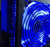 NEW HIGH POWER Quiet 550W Blue LED 80plus Gaming AMD RYZEN PC Power Supply