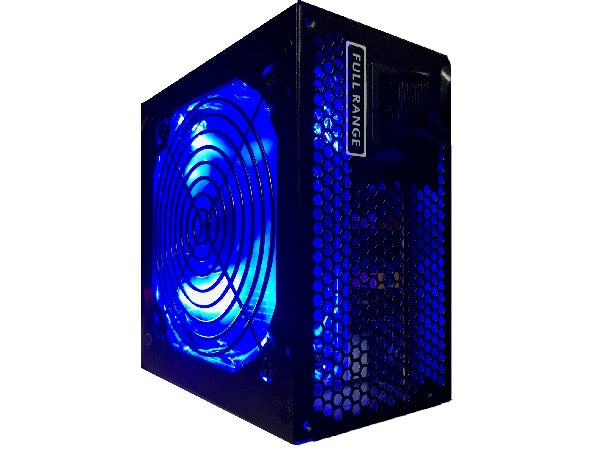 HIGH POWER® HP-750-LED 750-Watt 120mm LED Fan 80+ Efficient Intel i7 Skulltrail/ AMD Ryzen Vega Gaming PC PSU, Quiet Supply