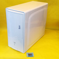 NEW Sleek White Glossy Steel, Blue Front LED Border Mid Tower ATX Gaming PC Case