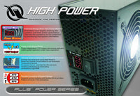 HIGH POWER® HPC-500-A12S Test Bench PSU 500W with Built-in LED Wattage Meter (Demo Unit)