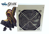 SHARK TECHNOLOGY® ATX-650W Power Supply 120mm Fan 650W with 20+4pin, 4/8-pin ATX 12V, 6+2pin PCIe, 4-SATA, 4-Molex, 1-FDD Connectors
