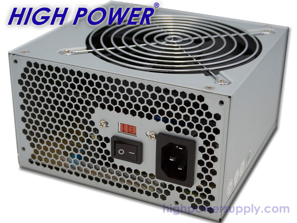 NEW HIGH POWER® Low Noise 120mm Fan 430W 6pin PCIe Computer PC Power Supply