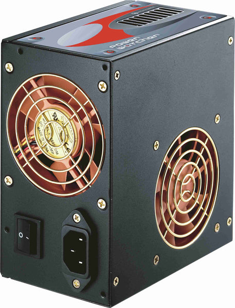 HIGH POWER 480W PW-480-302 DF ATX12V Dual-Fan PC Power Supply with Built-in Wattage Meter and Active PFC Technology with Auto AC Input Selection