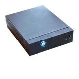 HIGH POWER® mITX-0DB Silent Fanless Mini PC Case 90W Modular Cable Power Supply AND VESA-Mount Kit