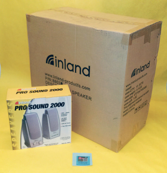 Lot of 10: Inland PRO Sound 2000 100W AMP Computer PC, Notebook, & MP3 Speakers