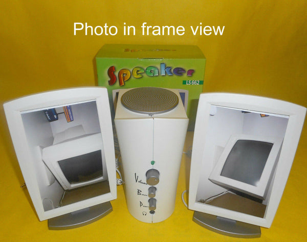 NEW Flat Panel Picture Frame 2.1 Speakers with Subwoofer for TV/PC/Laptop/Phone