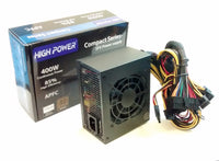 HIGH POWER® SFX400-BR 80plus Bronze Active PFC 400W Micro ATX SFX/PS3 12V PC Power Supply
