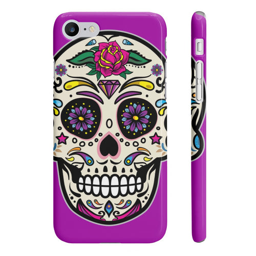 Classic Print Body Ghost Slim Phone Cases - Purple