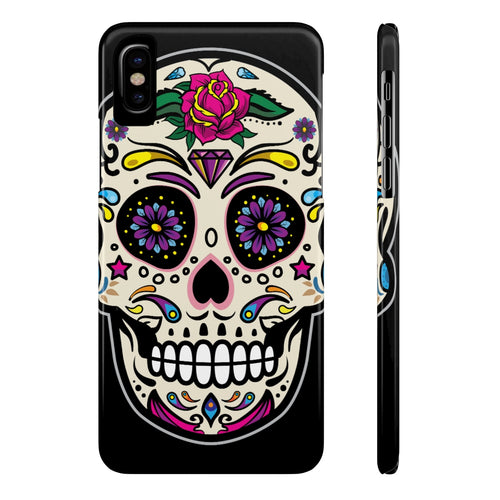 Matte Ghost Body Phone Case - Skull