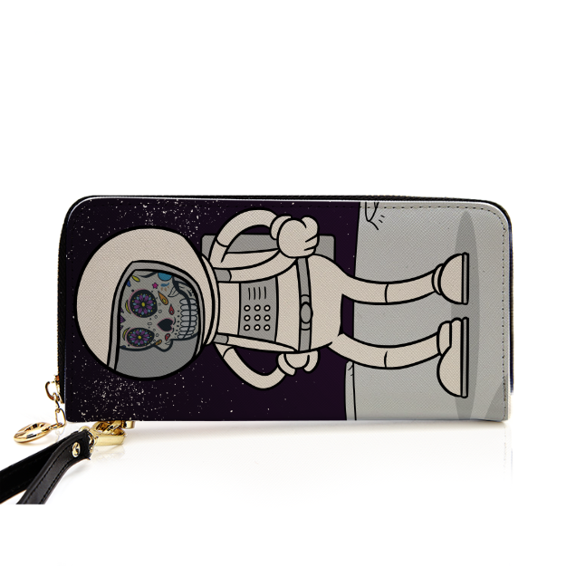 Spaceman Body Ghost Leather Purse