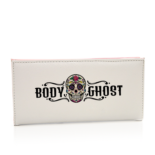 Classic Body Ghost Print Long Leather Purse