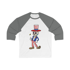 """American Made"" Body Ghost Unisex 3/4 Sleeve Tee"