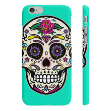 Classic Print Body Ghost Slim Phone Cases - Turquoise