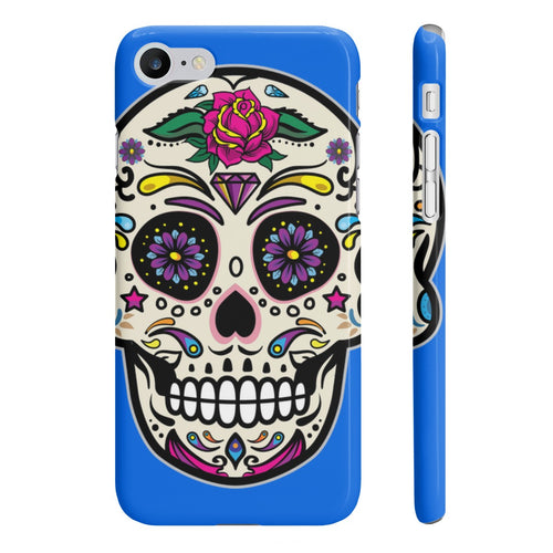 Classic Print Body Ghost Slim Phone Cases - Blue