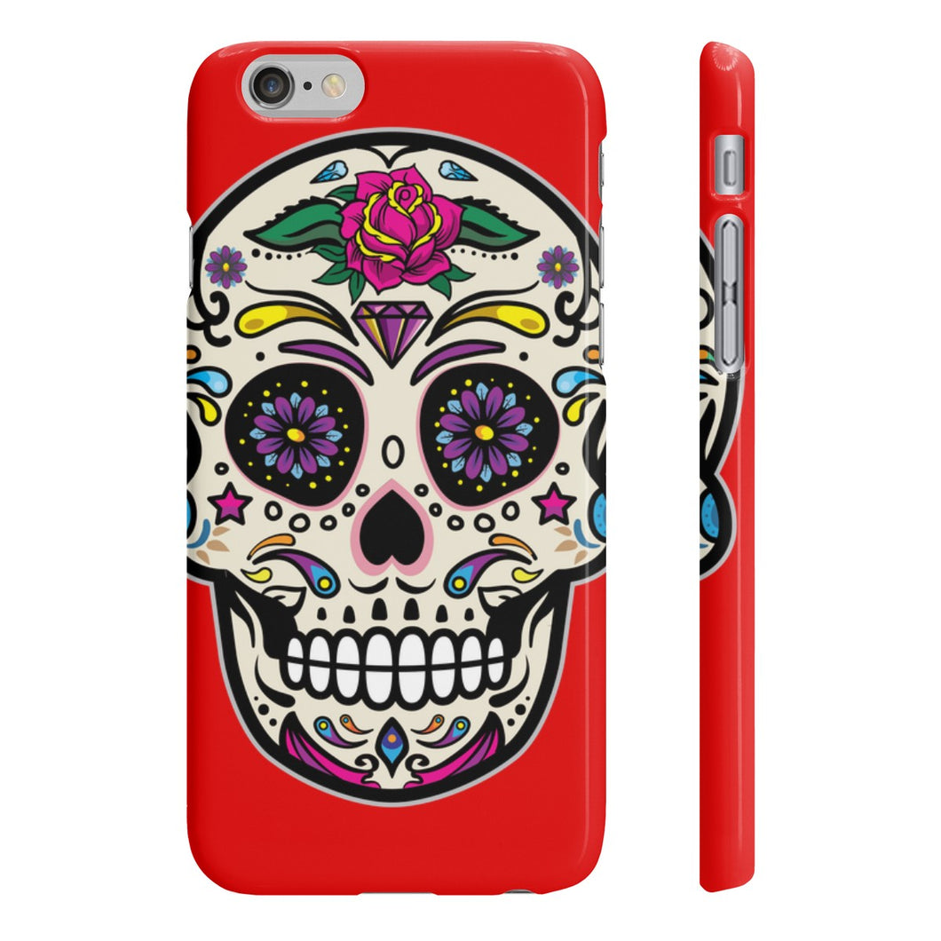 Classic Print Body Ghost Slim Phone Cases - Red